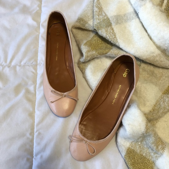 972167a63 GAP Shoes | Leather Ballet Flat In Pink Fairy Sz 10 | Poshmark